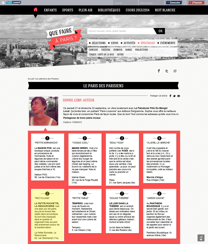 Blog Que faire à Paris? - Sept. 20133