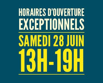 Horaires d 39 ouverture exceptionnels le samedi 28 juin de - La defense horaire d ouverture ...