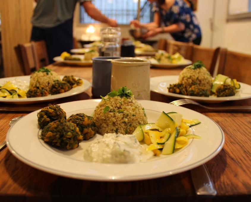 Atelier de cuisine et dîner