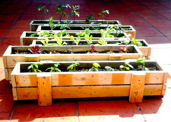 Venez fabriquer une jardini re en palettes vendredi 14 octobre la petite rockette - Jardiniere en palette ...